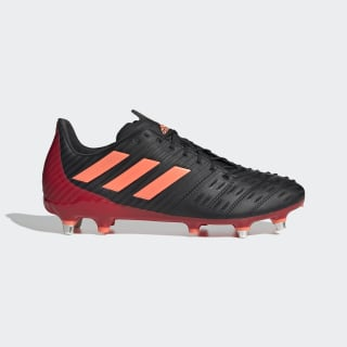 Predator Malice Control Soft Ground Boots Core Black / Signal Coral / Scarlet EH0141