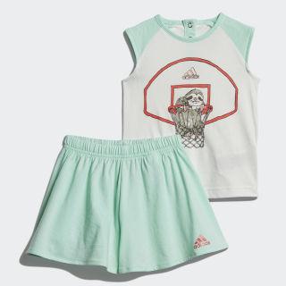 Комплект: футболка и брюки Animal white / clear mint / prism pink DV1262