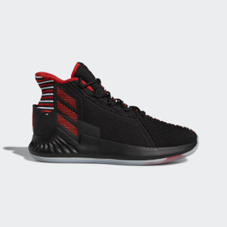 D Rose 9 Geek Up Shoes Core Black / Cloud White / Active Red EE6846