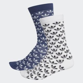 Trefoil Crew Socks 2 Pairs Sky Tint / White FM0679