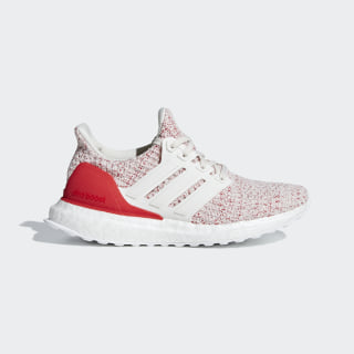UltraBOOST J Shoes chalk white / chalk white / active red F34034