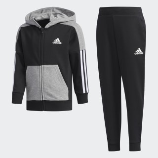 Fitted Track Suit Black / Core Heather DY9233