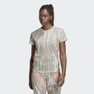 Tričko Allover Print White / Multi Solid Grey / Glory Pink FK3321