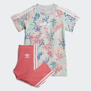 Tee Dress sæt Multicolor / Real Pink FJ3928