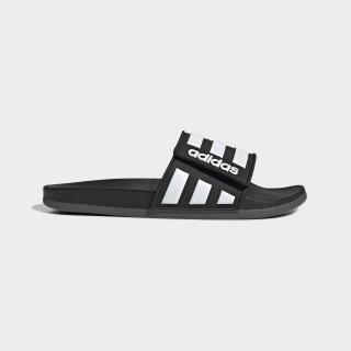 Sandalias Ajustables Adilette Comfort Core Black / Cloud White / Grey Six EG1344