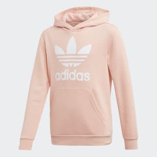 Mikina skapucňou Trefoil Glow Pink / White EJ3248