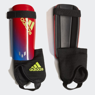 Messi 10 Shin Guards Bold Blue / Active Red / Silver Metallic DN8592