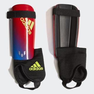 Messi 10 Shin Guards Multicolor / Active Red / Silver Metallic DN8592