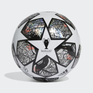 UCL Finale Istanbul Training Ball White / Multicolor / Black / Solar Red FH7346