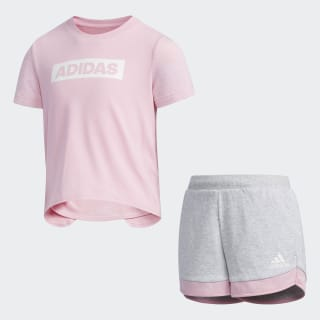Tee Set True Pink / Light Grey Heather DW4027