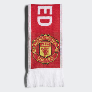 Manchester United Scarf Real Red / White BR7025