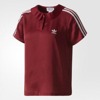 Футболка-поло 3-Stripes collegiate burgundy BR4558