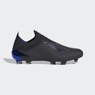 X 18+ Firm Ground Cleats Core Black / Core Black / Bold Blue BB9336