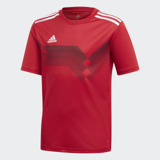 Camiseta Campeon 19 Power Red / White DP3693