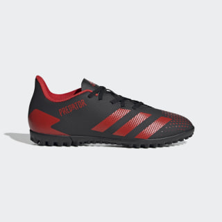 Botas de Futebol Predator 20.4 – Piso sintético Core Black / Active Red / Core Black EE9585