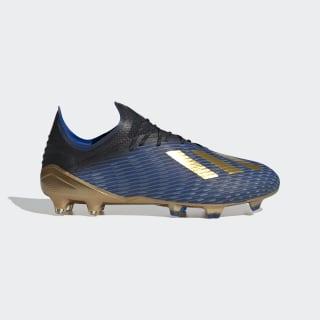 X 19.1 Firm Ground Voetbalschoenen Core Black / Gold Met. / Football Blue F35313