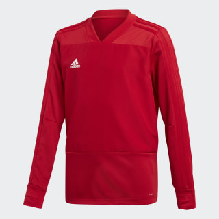 Camiseta manga larga entrenamiento Condivo 18 Player Focus Power Red / White BS0518