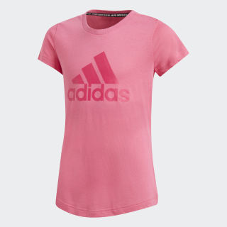 Must Haves Badge of Sport T-Shirt Semi Solar Pink / Real Magenta DV0326