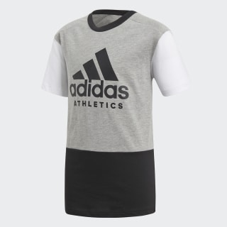 Playera Sport ID Medium Grey Heather / Black / White CF6450