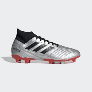 Zapatos de Fútbol Predator 19.3 Terreno Firme Silver Metallic / Core Black / Hi-Res Red F35595