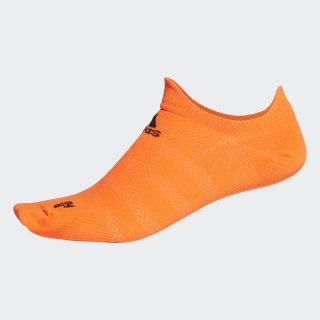 Alphaskin Ultralight No-Show Socks Solar Orange / Black EH4303