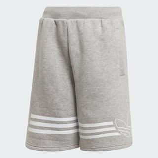 Outline Shorts Medium Grey Heather / White ED7844