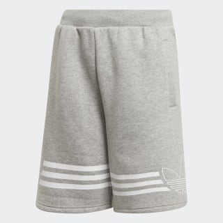 Outline Shorts Medium Grey Heather / White ED7844
