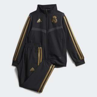 Real Madrid Presentation Suit Black / Dark Football Gold DX7864