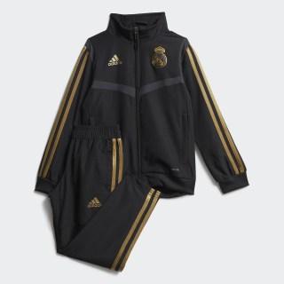 Real Madrid Presentation træningsdragt Black / Dark Football Gold DX7864