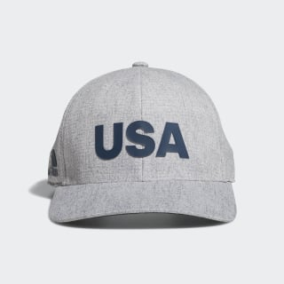 Heathered USA Hat Grey Heather DN4252