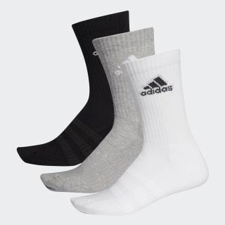 Cushioned Crew Socks 3 Pairs Medium Grey Heather / Medium Grey Heather / Black DZ9355