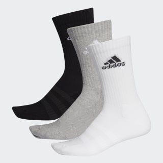 Cushioned Crew Socks Medium Grey Heather / Medium Grey Heather / Black DZ9355