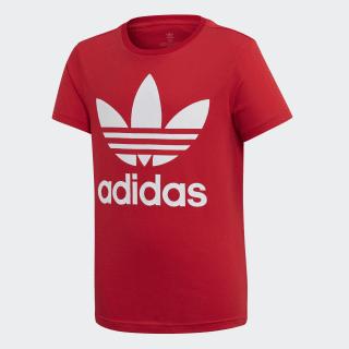 T-shirt Trefoil Scarlet / White ED7795