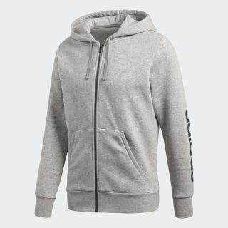 Флисовая толстовка Essentials Linear Medium Grey Heather / Collegiate Navy BQ9636