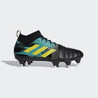 Kakari X Kevlar Soft Ground Boots Core Black / Shock Yellow / Hi-Res Aqua AC7677