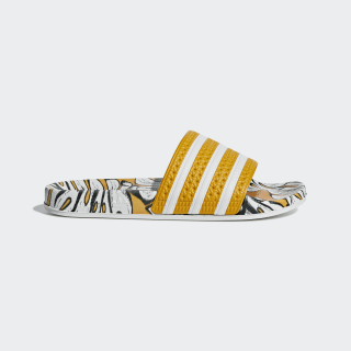 Adilette Slides Yellow / Off White / Craft Gold D96682