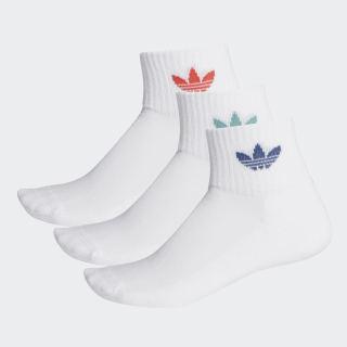 Calcetines Clásicas de altura media 3 Pares White / White / Lush Red FM0642