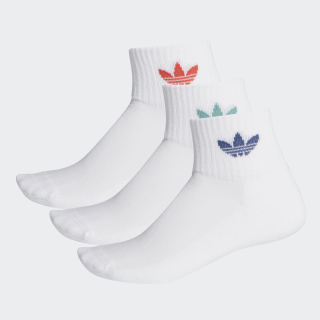 Mid-Cut Crew Socks 3 Pairs White / White / Lush Red FM0642