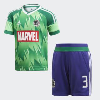 Conjunto Futebol Marvel Hulk SHOCK LIME/BOLD GREEN/WHITE/VIVID RED ENERGY INK F17/WHITE/BOLD GREEN DI0197