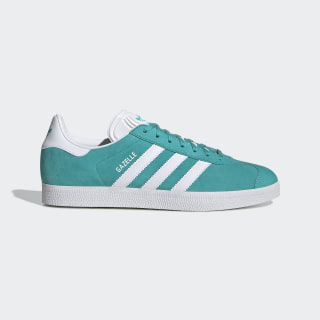 Gazelle Shoes Hi-Res Aqua / Cloud White / Cloud White EE5510