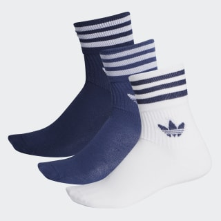 Mid-Cut Crew Socks 3 Pairs Night Indigo / Tech Indigo / White FM0637