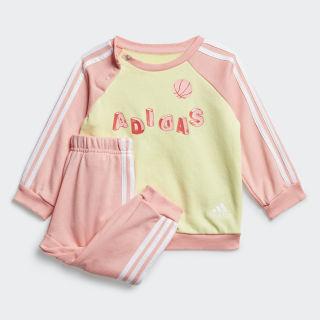 Комплект: джемпер и брюки Graphic Yellow Tint / Glory Pink / White FM6368