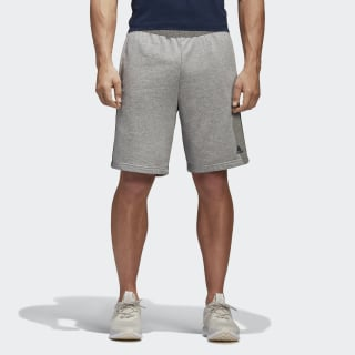 Essentials 3 Stripes Shorts Medium Grey Heather/Collegiate Navy BK7469