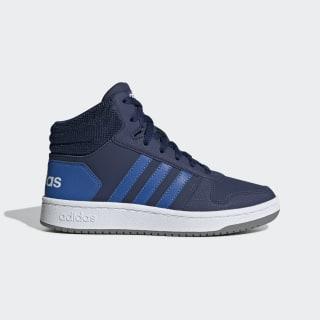 Hoops 2.0 Mid Schoenen Dark Blue / Blue / Cloud White EE6707