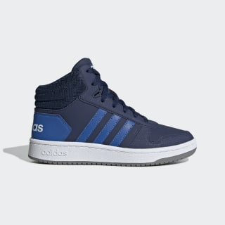 Scarpe Hoops 2.0 Mid Dark Blue / Blue / Cloud White EE6707