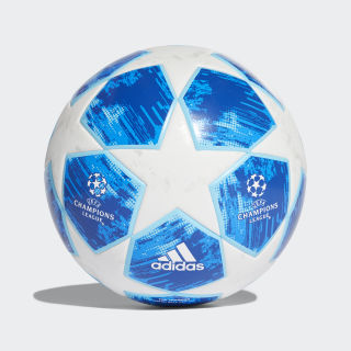Ballon Finale 18 Top Training White / Football Blue / Bright Cyan / Collegiate Royal CW4134