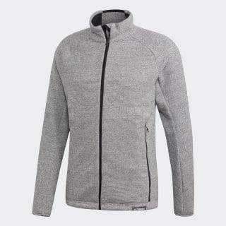 Knit Fleece Jacket Medium Grey Heather CY2147