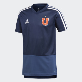 Camiseta de Entrenamiento Universidad de Chile Niños COLLEGIATE NAVY/NIGHT MARINE/WHITE CF5092