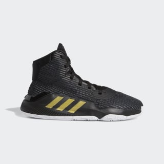 Zapatilla Pro Bounce 2019 Core Black / Gold Met. / Cloud White EF0868