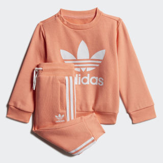 Crew Sweatshirt Set Chalk Coral / White FM5587